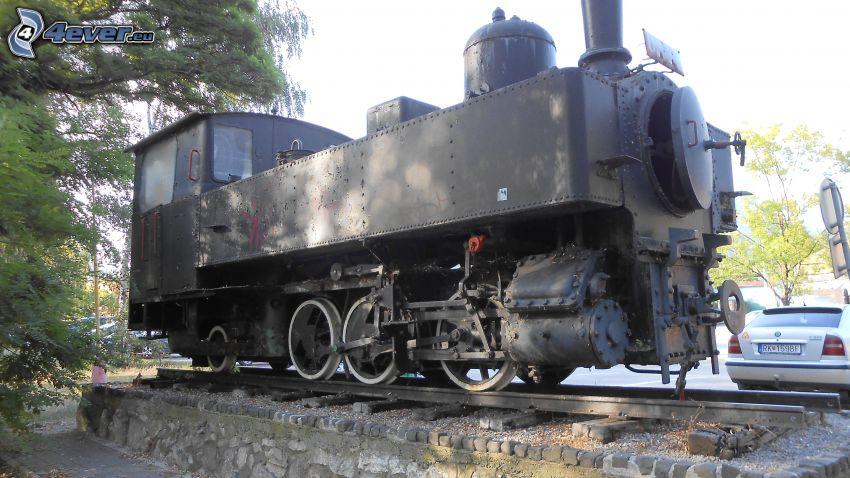 parná lokomotíva