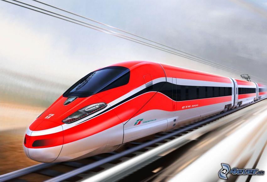 vlak, rýchlosť