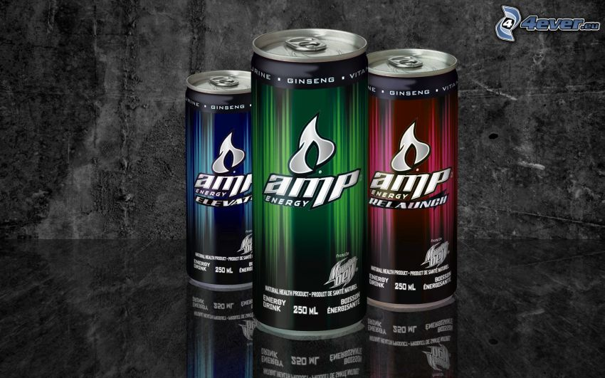AMP energy, plechovky