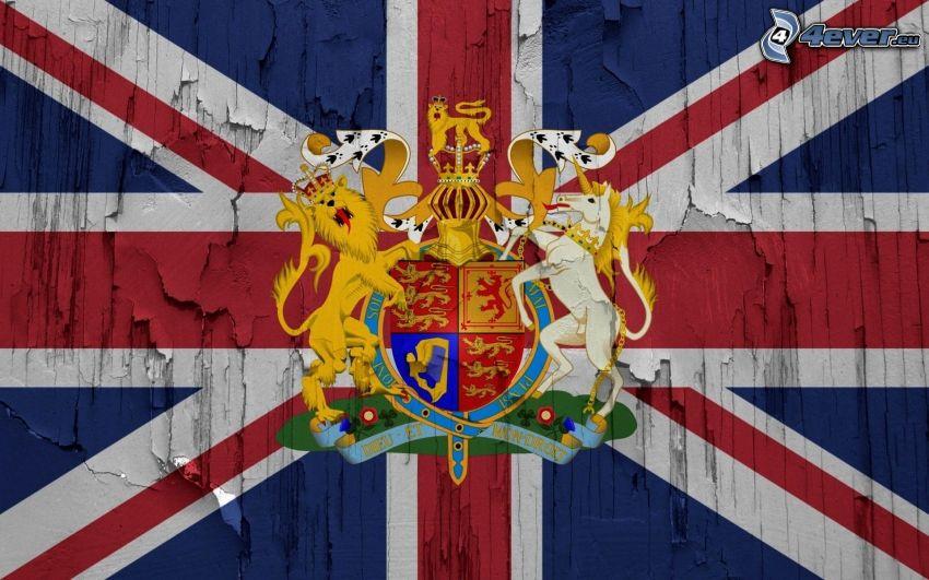 anglická vlajka, erb