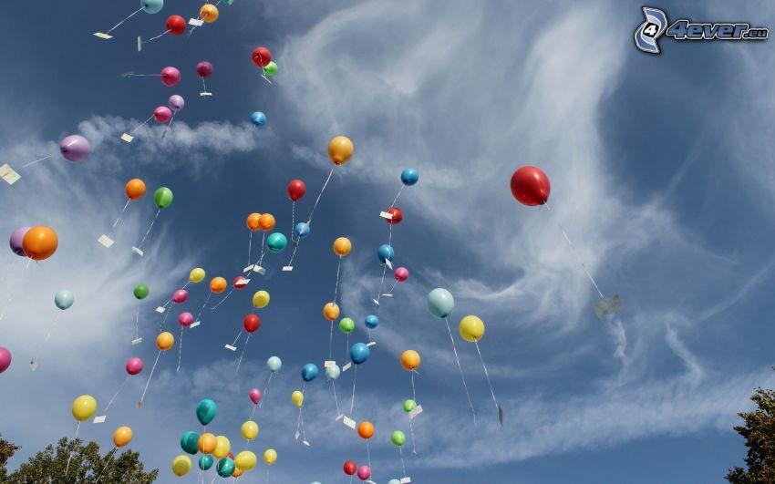 balóny, oblaky
