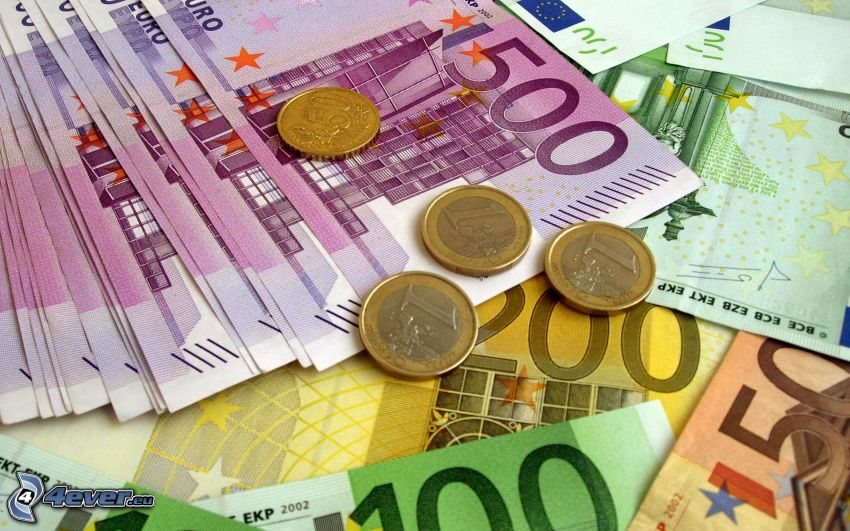 bankovky, peniaze, mince