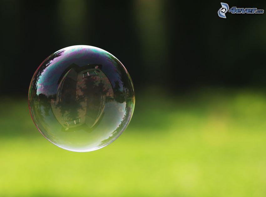 bublina, odraz, dom