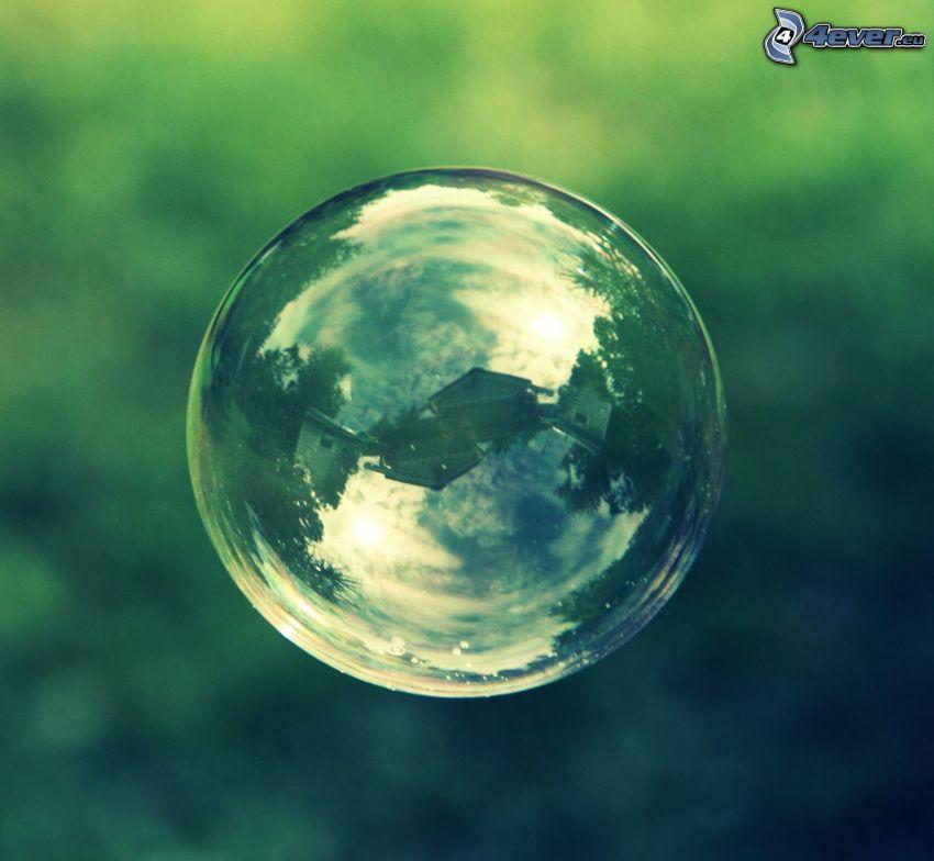 bublina, odraz