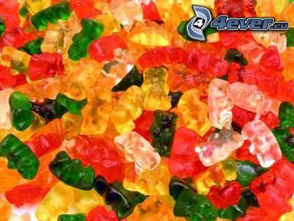cukrík, želé