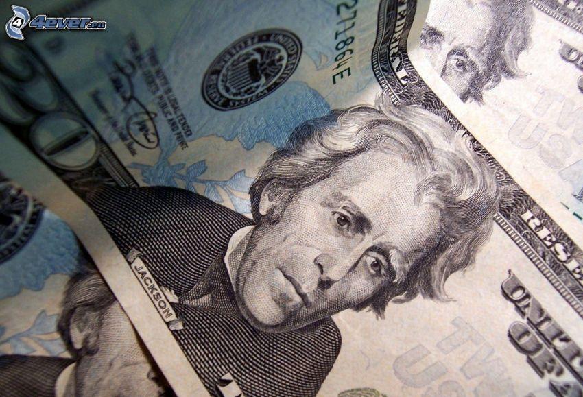 doláre, bankovky