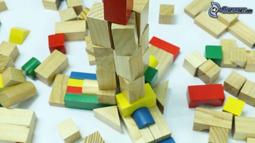 drevené kocky, hračka