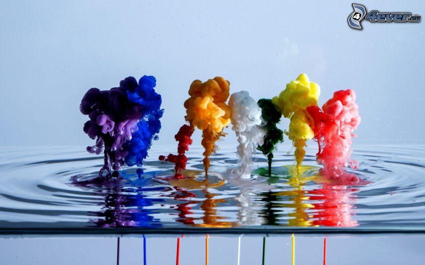 farby, voda