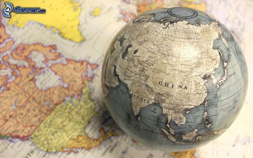 glóbus, mapa sveta