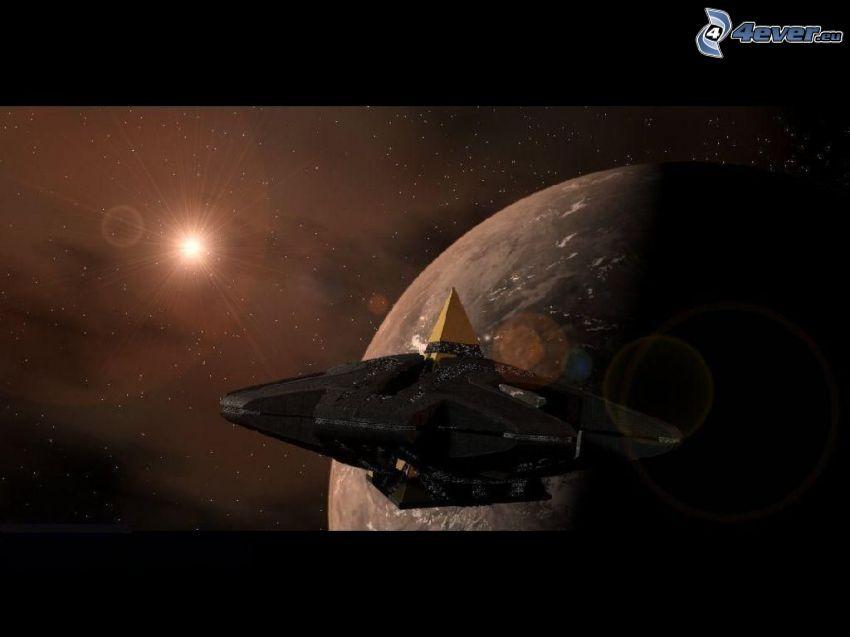 Goa'uld hatak, Stargate SG-1, vesmír, sci-fi, hviezda