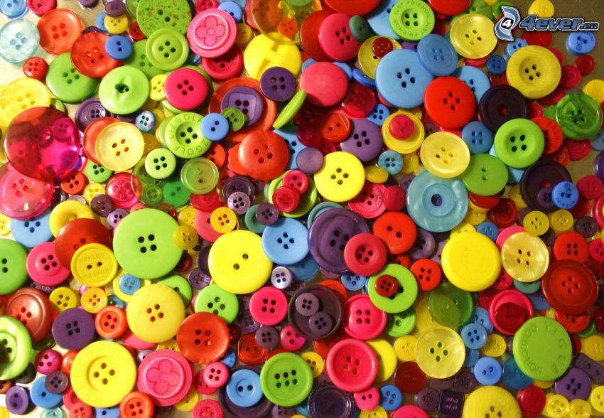 gombíky, farby