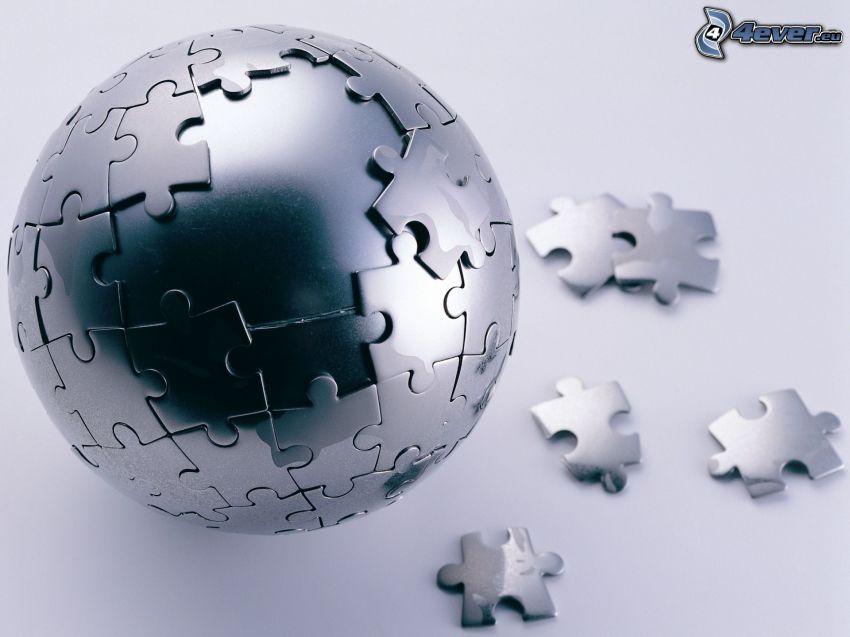 guľa, puzzle