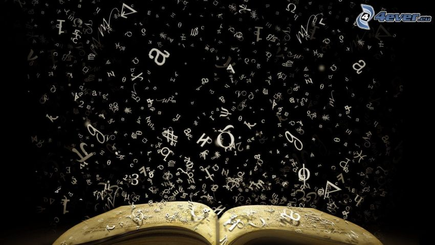 kniha, písmená