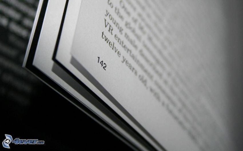 kniha, text
