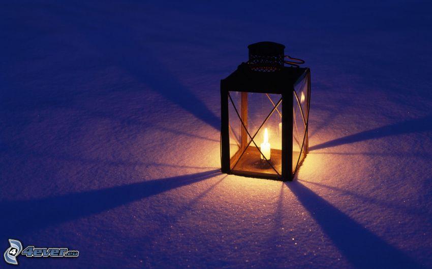 lampa, sneh