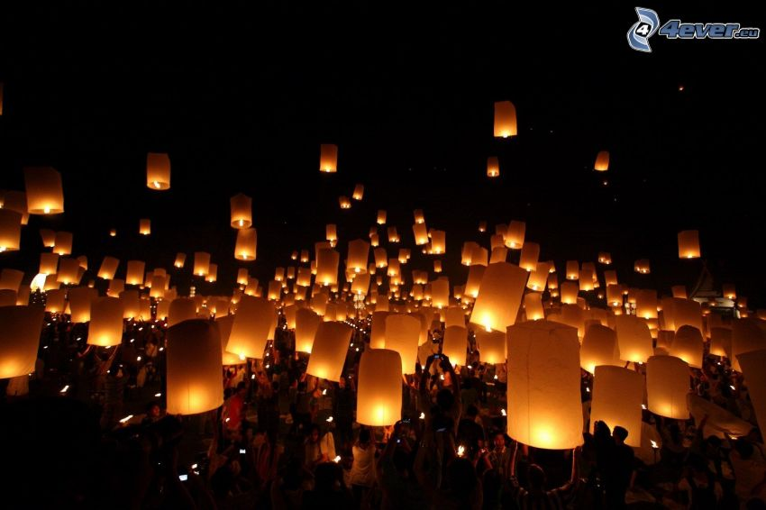 lampióny šťastia