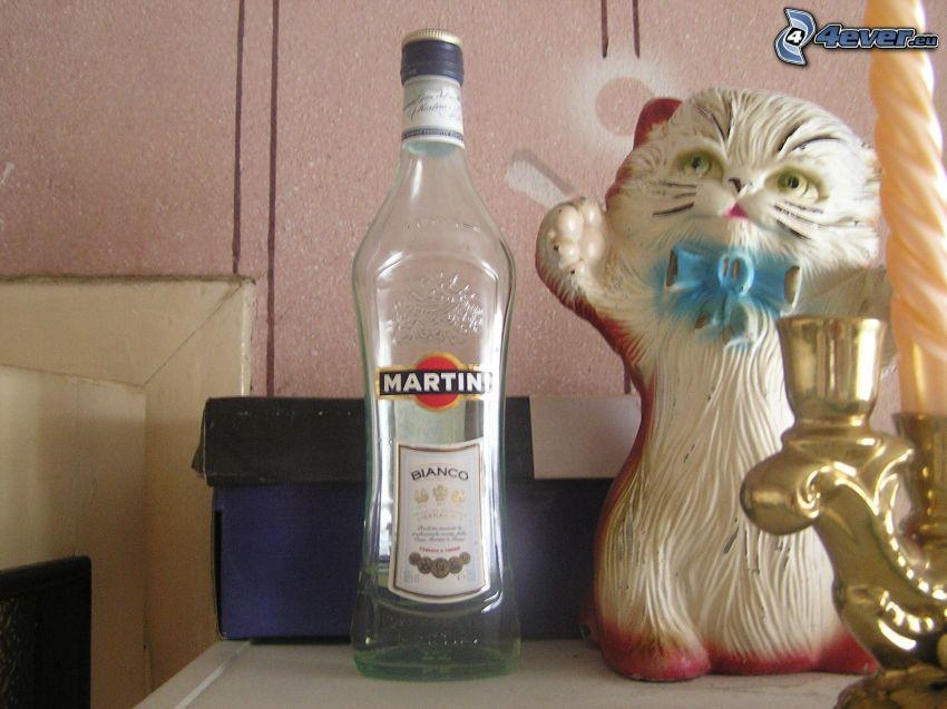 Martini, mačka, sviečka