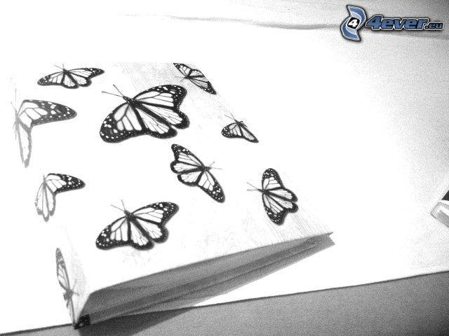 motýle, kniha