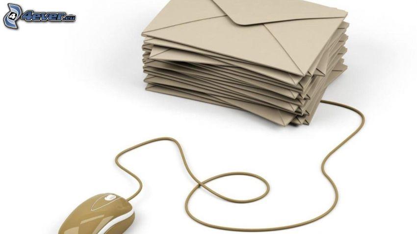 obálky, myš