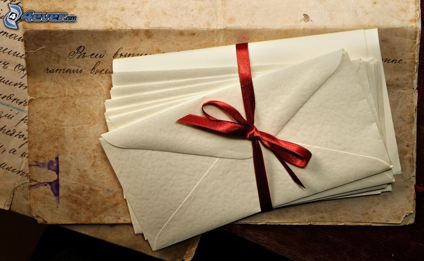 obálky, stuha