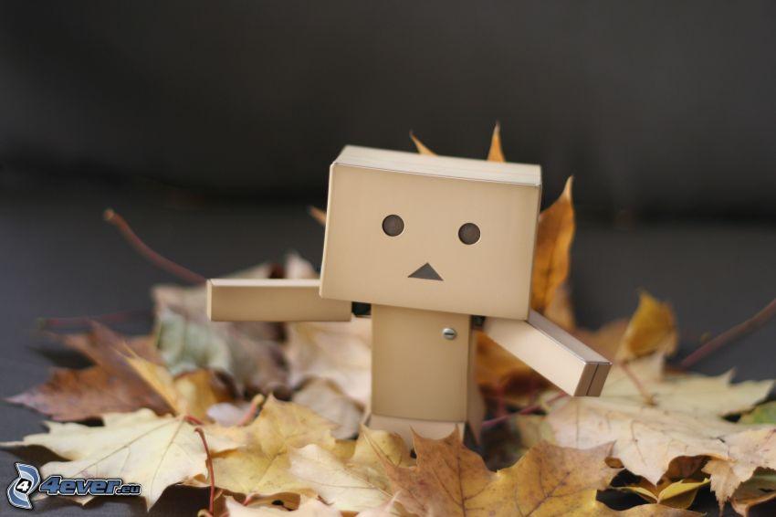 papierový robot, jesenné listy