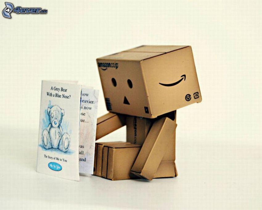 papierový robot, kniha