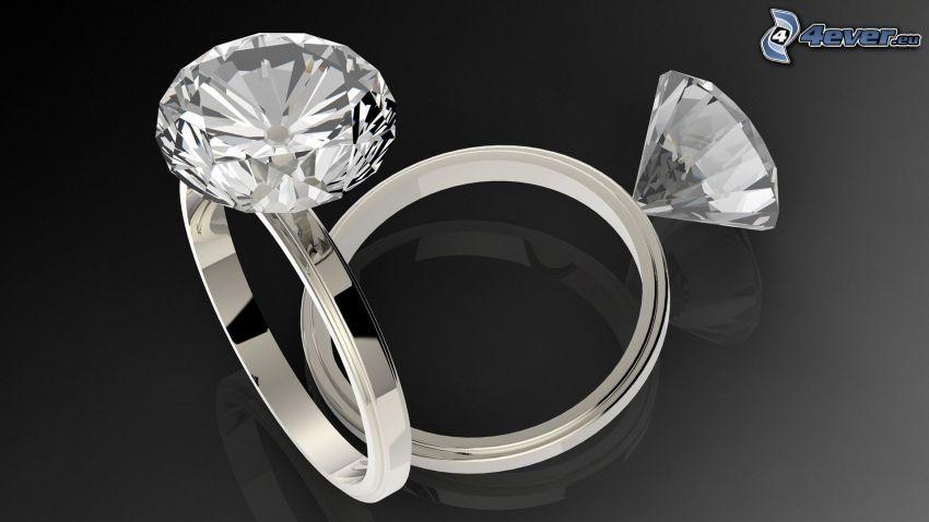 prstene, diamant