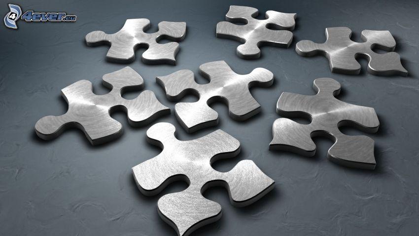 puzzle, kov