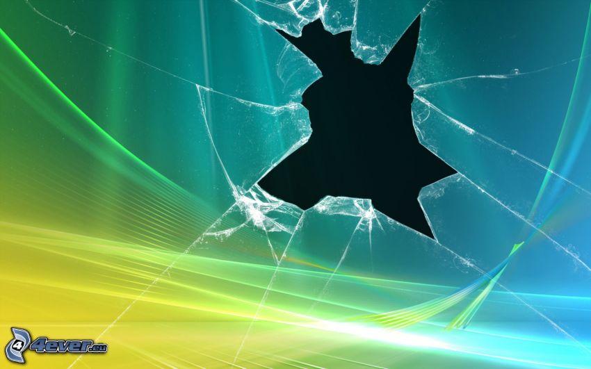 rozbité sklo, Windows Vista
