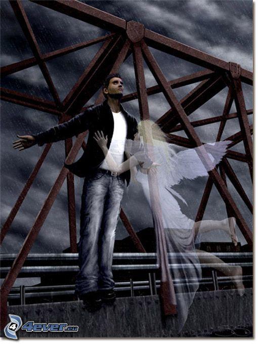 samovražda, strážny anjel, železný most