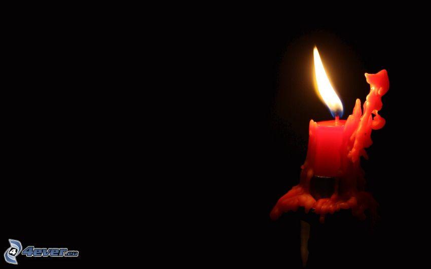 sviečka, plameň