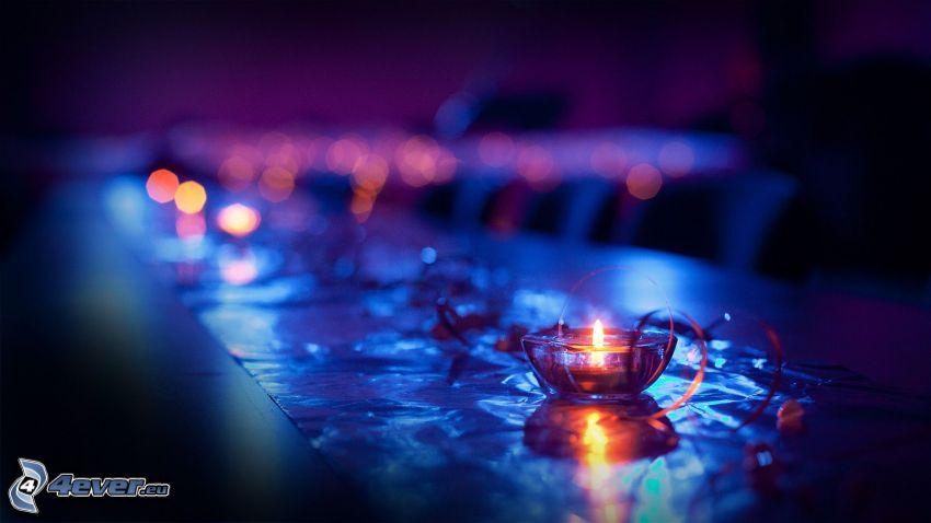 sviečka, stôl