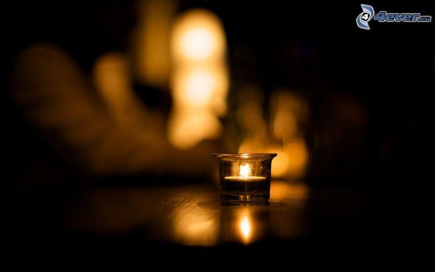 sviečka, svetlá