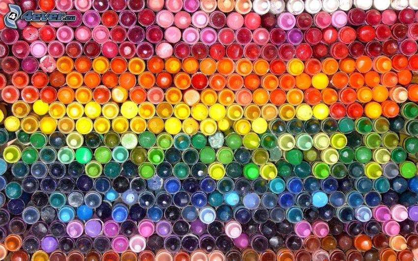 voskovky, farby