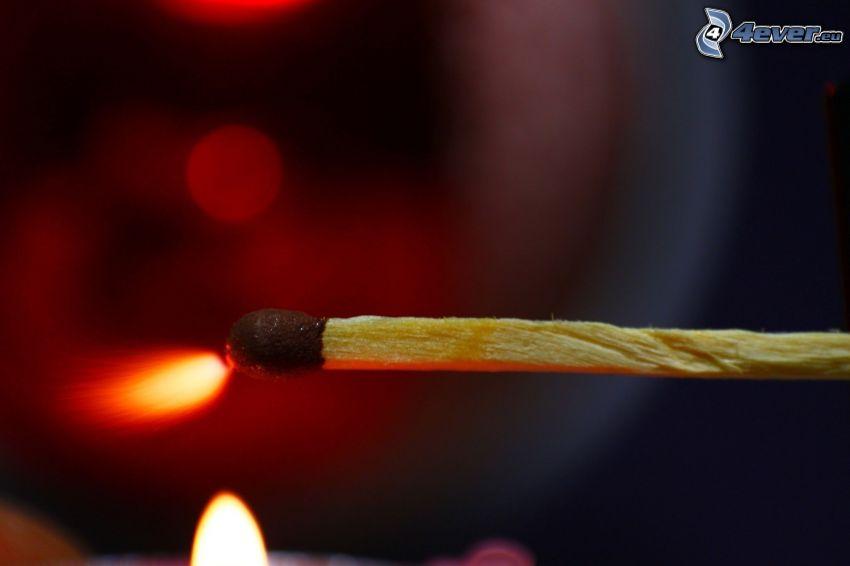 zápalka, oheň, iskra