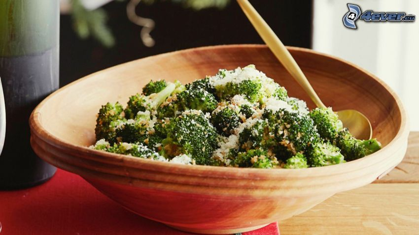 brokolica, miska, obed