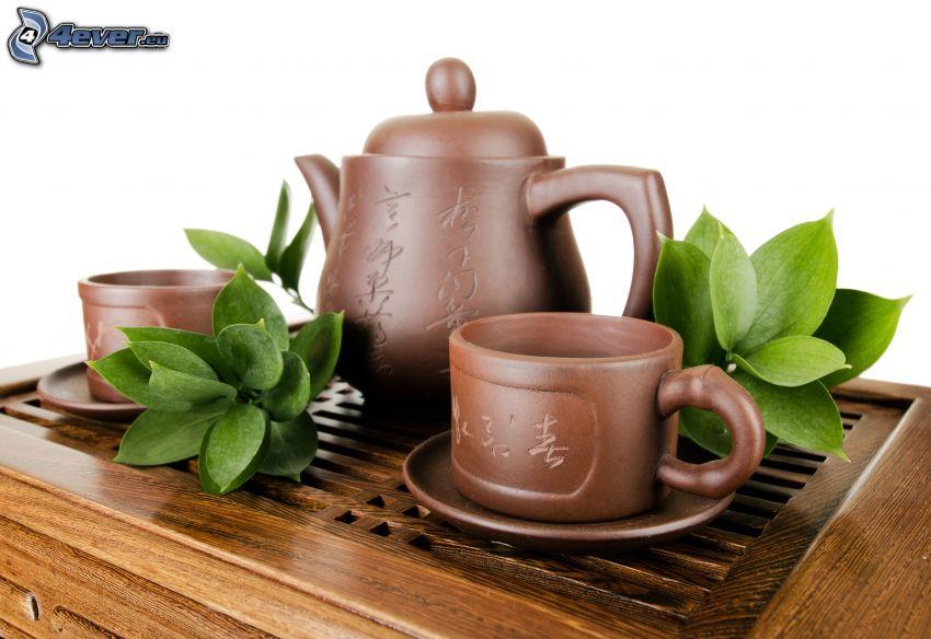 čajník, šálky