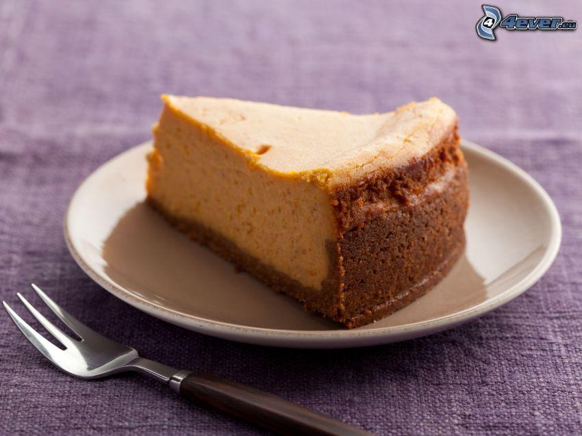 cheesecake, vidlička