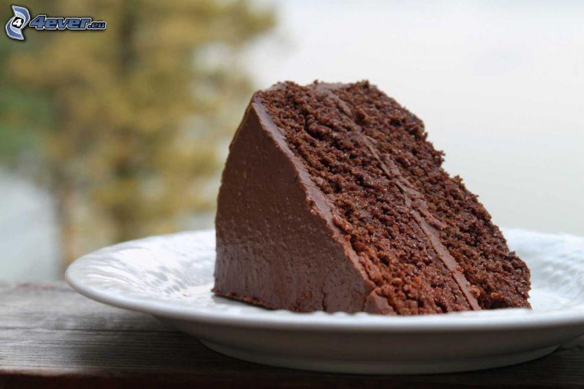 čokoládová torta, kúsok torty