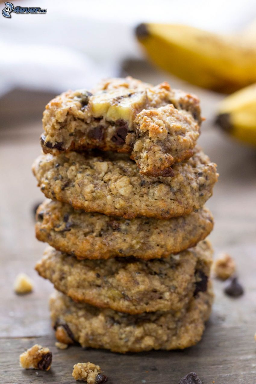 cookies, banány