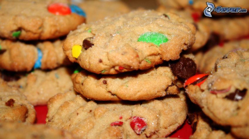 cookies, lentilky