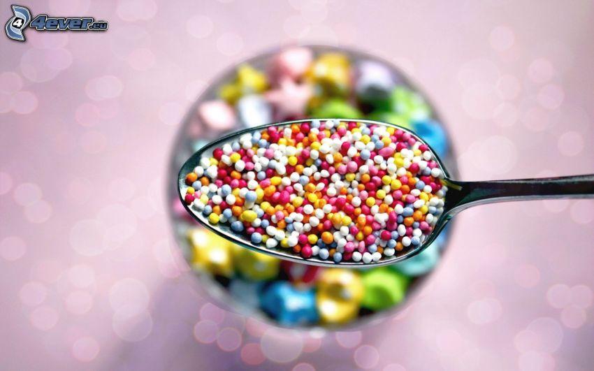 cukríky, guličky