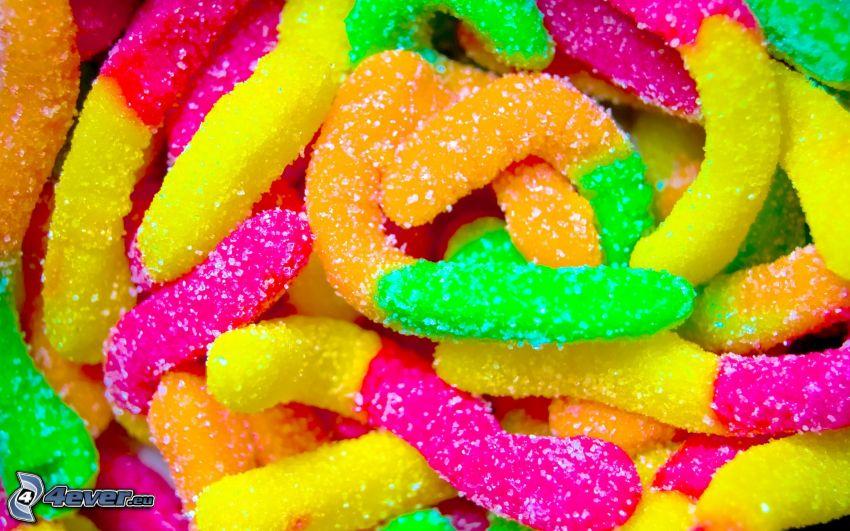 cukríky, želé