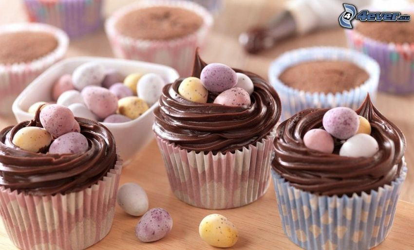 cupcakes, cukríky