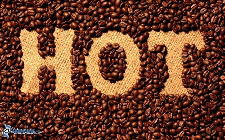 HOT, kávové zrná