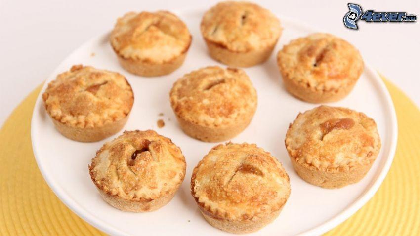 jablčník, muffiny