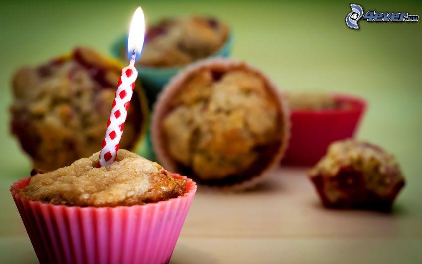 muffiny, sviečka