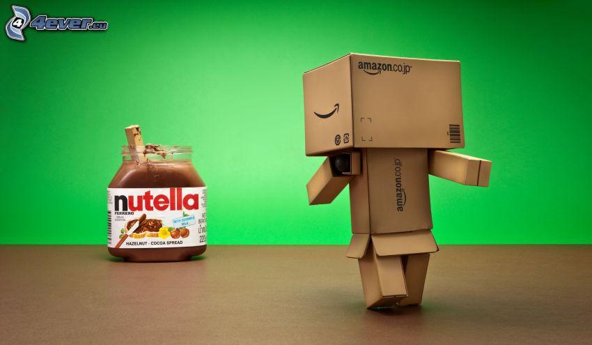 nutella, papierový robot