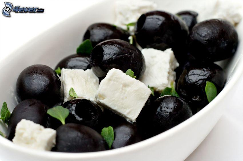 olivy, syr