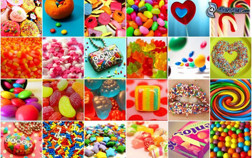 sladkosti, cukríky, lízatko